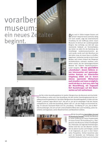 vorarlberg museum: - Kulturmagazin-Bodensee.de