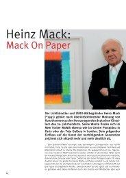 Heinz Mack: - Kulturmagazin-Bodensee.de