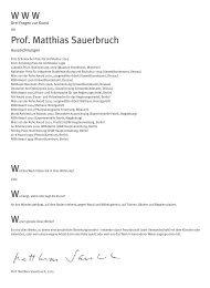 W W W Prof. Matthias Sauerbruch - Kulturmagazin Bodensee