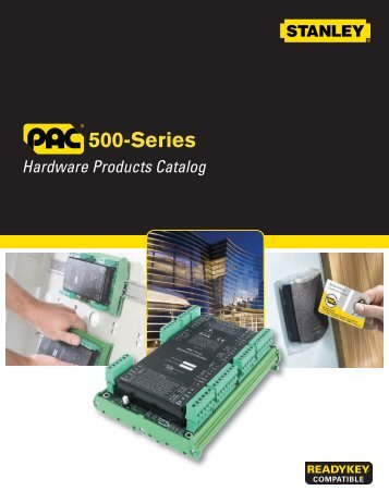 Stanley PAC 500-Series Hardware Catalog