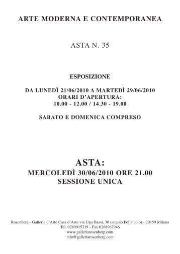 Catalogo Asta 35 - Galleria Rosenberg