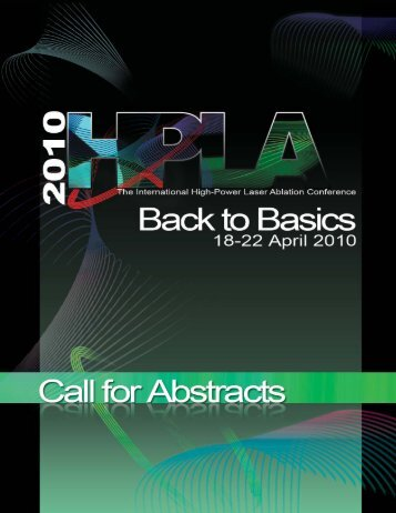 Download the 2010 HPLA Call for Abstracts