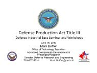 Title III of the Defense Production Act