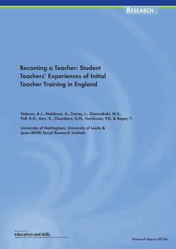 Becoming a Teacher: Student Teachers - Department for Education