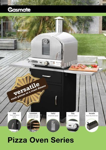 Gasmate Pizza Oven Brochure - Pivot Stove & Heating