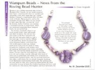 Wampum Beads: News from the Roving Bead ... - Diane Fitzgerald