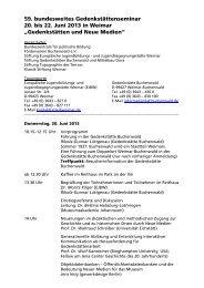 59. bundesweites Gedenkstättenseminar 20. bis 22. Juni 2013 in ...