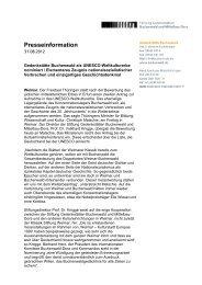 PM Buchenwald für Weltkulturerbe nominiert - Gedenkstätte ...