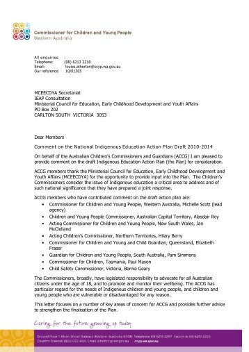 National Indigenous Education Action Plan Draft 2010-2014 - The ...