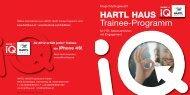 HARTL HAUS Trainee-Programm