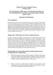 Victims of Crime Consultative Forum 10 March, 2010 Pre ... - Amen