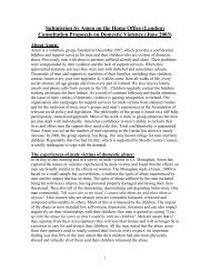 (London) Consultation Proposals on Domestic Violence ... - Amen