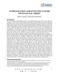 globalization and evolving nature of financial crises - e-Finanse