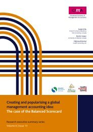 Creating and popularising a global management accounting ... - CIMA