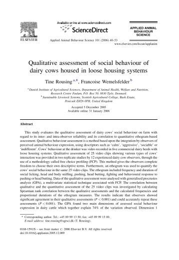 a qualitative assessment on how cultural Analyzing qualitative data for assessment october 15, 2014  assessment qualitative analysis software  cultural settings, then score the student.