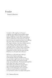 Susan Gubernat - Cimarron Review
