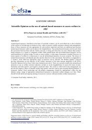 Scientific Opinion on the use of animal-based measures to assess ...