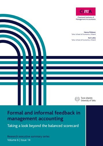 Formal and informal feedback in management accounting - e-Finanse