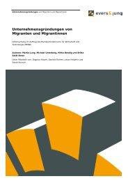 Unternehmensgründungen von Migranten und Migrantinnen - BMWi