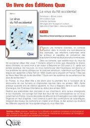 Un livre des Éditions Quæ - EDENext