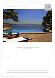 Luxury Villa in Cala Vinyas - Luxury Holidayhomes on Mallorca