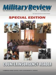 Counterinsurgency Reader - Combined Arms Center - U.S. Army