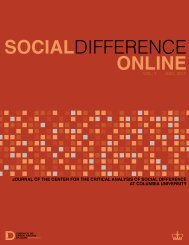 socialdifference online - Center for the Study of Social Difference