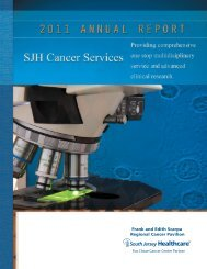 2011 Cancer Annual Report (PDF) - Inspira Health Network