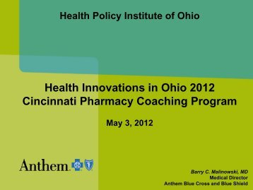 Health Innovations in Ohio 2012 Cincinnati ... - GRIPelements