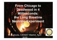 the Long Baseline Neutrino Experiment - C.I.E.M.A.T