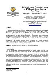Fabrication and Characterization of NiTi-based ... - Sadrnezhaad