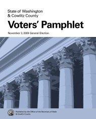 Voters' Pamphlet - Access Washington
