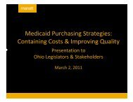 Medicaid Purchasing Strategies: Containing ... - Gripelements.com