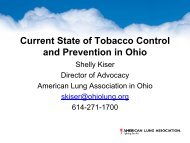 Current State of Tobacco Control and Prevention in ... - GRIPelements