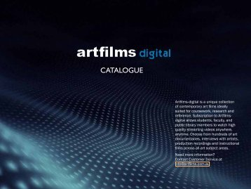 CATALOGUE - Art Films Digital