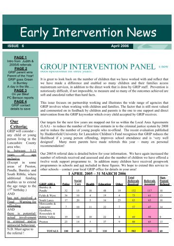 Early Intervention News - Safer Lancashire