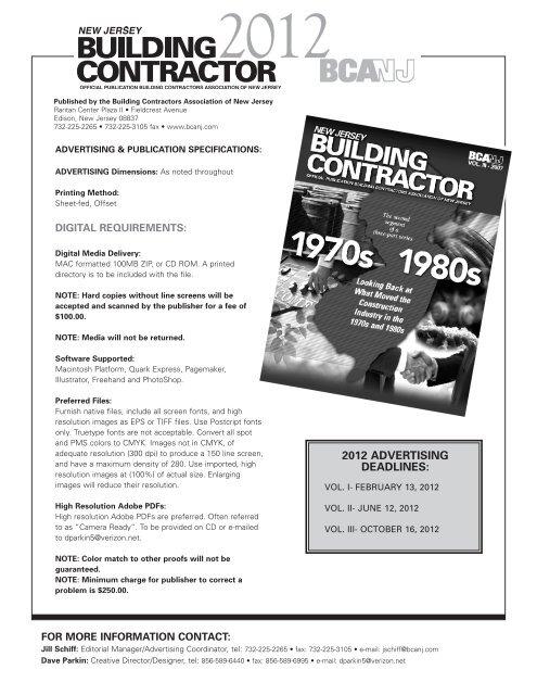 Magazine Advertising Contract - Building Contractors Association of