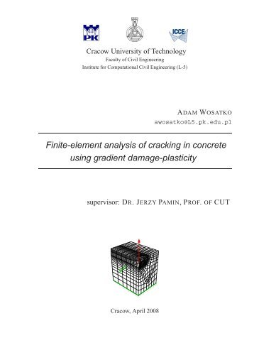Finite-element analysis of cracking in concrete using gradient ...