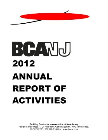 Download a PDF of the Annual Report - Building Contractors ...