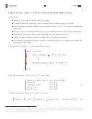 CMCE lecture notes 1: Finite element method basics recap