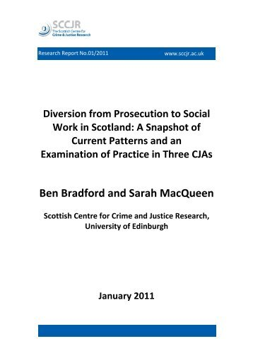 Diversion from Prosecution to Social Work in Scotland - sccjr