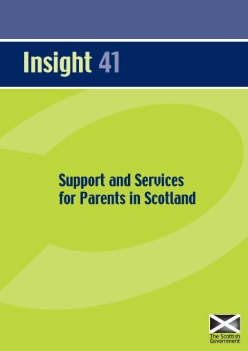 Support and Services for Parents in Scotland - Scottish Government