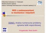 Wspornik - Instytut Metod Komputerowych w Inżynierii Lądowej ...