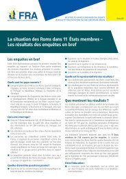 La situation des Roms dans 11 États membres - European Union ...