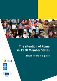 The situation of Roma in 11 EU Member States - European Union ...