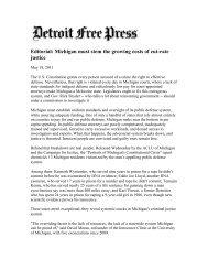 Detroit Free Press Editorial 5-18-11 - Michigan Campaign for Justice