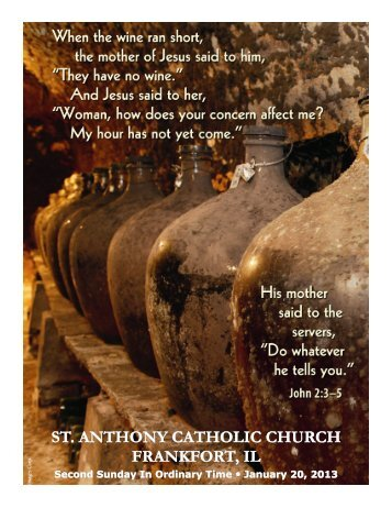 st. anthony catholic church st. anthony catholic church frankfort, il ...