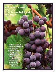Fifth Sunday of Easter May 6, 2012 St. Anthony Catholic Church ...