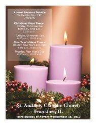 third sunday of advent december 16, 2012 - St. Anthony Catholic ...