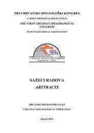 prvi hrvatski speleološki kongres - KARST underground protection
